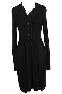 short dress black 1970 Womens Wool on Tradesy