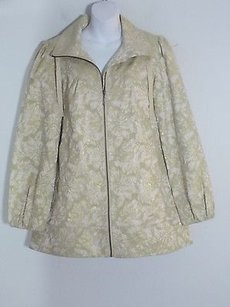 Robin Bobbie Creme Brocade gold cream Jacket