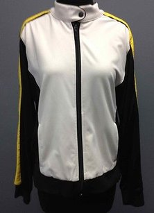 Tail Performance White Black Yellow Stripe Zip Front Track Jacket Sm12645