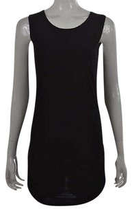 Other Planet Womens Os Sleeveless Casual Solid Blouse Shirt Top Black