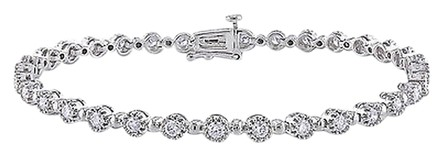 Other 14k White Gold Diamond Tennis Bracelet 1.5 Ct G-h Si 7