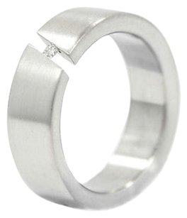 Other Teno Stainless Steel Ring Tension Set 0.04ct Diamond Weighs 5.7 Grams