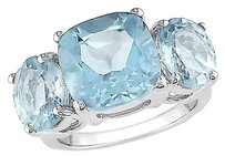 Sterling Silver 8 25 Ct Sky Blue Topaz Three Stone Fashion Ring