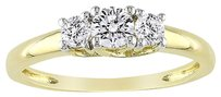 Other 10k Yellow Gold 58 Ct Tgw White Sapphire 3 Stone Ring