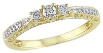 10k Gold 14 Ct Tdw Diamond 3-stone Fashion Ring H-i I2-i3