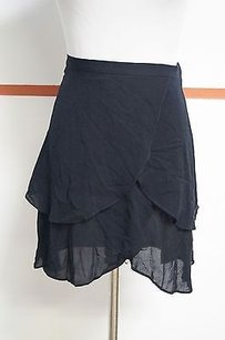 Other Olga Kapustina 100 Viscose Side Zip Tiered Chic Fun 15028 Skirt Black