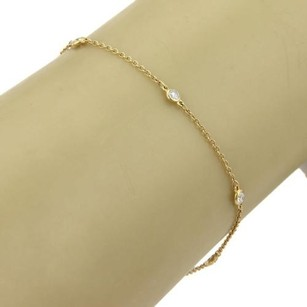 Tiffany Co. Elsa Peretti Six Diamond By The Yard 18k Yellow Gold Bracelet