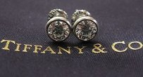 Other Tiffany Co Plat Elsa Peretti Bezel Diamond Earrings 1.02ct G-vs1