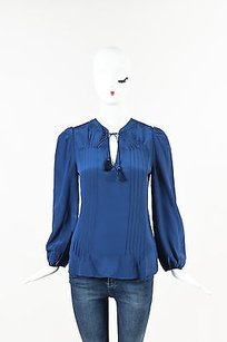 Marie Oliver Silk Ramsay Top Blue