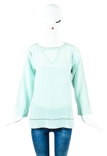 Marie Oliver Nwt Silk Top Blue