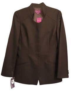 Top Hat Ny Chocolate Brown Wool Jacket Blazer Beautifully Made