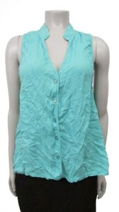 Other Alternative Blue Musical Chairs Sleeveless Tank Top Holiday Blue