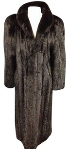 Saga Mink Fur Long Trench Coat