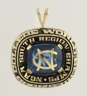 Other Unc South Region Champions Pendant - 10k Yellow Gold College World Series Ncaa