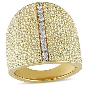 Other Versace 19.69 Abbigliamento Sportivo 18k Gold Covered Silver Sapphire Ring