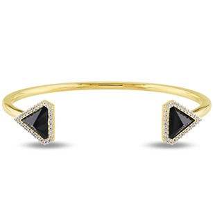Other Versace 19.69 Abbigliamento Sportivo 18k Gold Over Silver Sapphire Cuff Bangle
