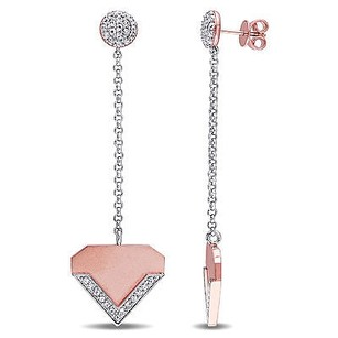 Other Versace 19.69 Abbigliamento Sportivo 18k Rose Covered Silver Heart Earrings