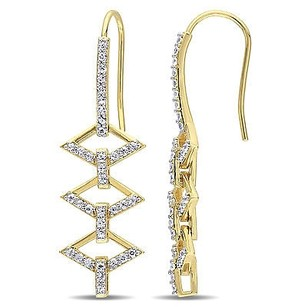 Other Versace 19.69 Abbigliamento Sportivo Srl 18k Gold Covered Silver Logo Earrings