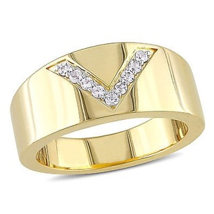 Versace 19.69 Abbigliamento Sportivo Srl 18k Yellow Gold Covered Silver Ring