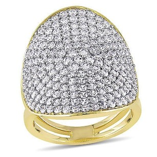 Other Versace 19.69 Abbigliamento Sportivo Srl Cz Cluster Cocktail Ring Yellow Silver
