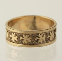 Victorian Clover Ring - 120th 12k Gold Filled Band Womens Fine Estate 34