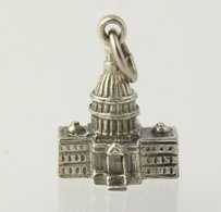 Washington Dc Capital Building - Sterling Silver 925 Keepsake Souvenir 3d