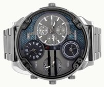 Black Mens Round Watch Face Multi Color Dial Water Resistant Ny London