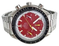 Omega Watch Schumacher Chronograph Speedmaster With Box And Papers Max065187