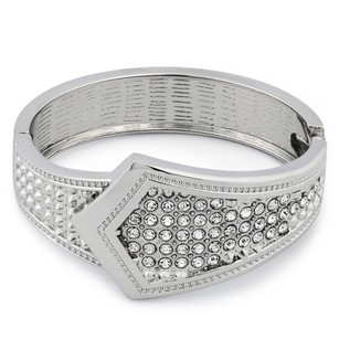 Other White Gold-Plated Tie Design Chunky Fancy Fashion Bangle