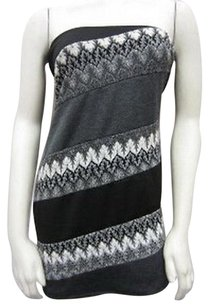 Other Cheryl Grey Strapless Knit Diagonal Design 40240pk Dress