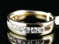 14k Mens Yellow Gold Diamond Wedding Band Ring 1.0 Ct