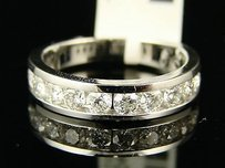 14k Ladies White Gold Diamond Wedding Band Ring 1.01 Ct