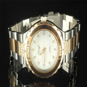 Womens Gear Bezel Simulated Diamond Tone Gold Finish Jojo Jojino Rodeo Watch
