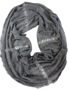 Ohhh Yeah Gray Distressedwebbed Cashmere Infinity Scarf
