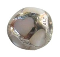 PANDORA Authentic Pandora #790398MPW Love Me Bead with Mother of Pearl