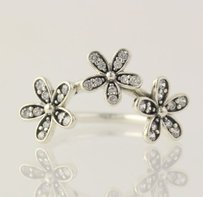 PANDORA Dazzling Daises Cubic Zirconia Flower Ring - Sterling Band 190933cz