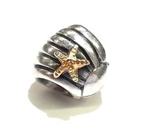 PANDORA PANDORA 14K Gold and Sterling Silver Shell Charm