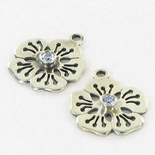 PANDORA Pandora 290623czx Earrings Blue Flower Hibiscus C Zirconia 925 Retired