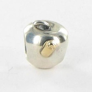 PANDORA Pandora 790168 Bead Charm Apple W Worm 14k Yellow Gold 925 Retired
