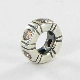 PANDORA Pandora 790368bcz Charm Bead Spacer Trinity Brown Cubic Zirconia 925 Retired