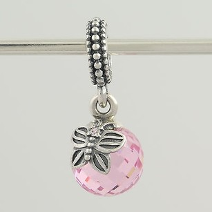 PANDORA Pandora Bead Charm - Sterling Silver 791258pcz Morning Butterfly Pink Cz