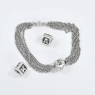PANDORA Pandora Bracelet With Initial A And K Charms Sterling Silver 6.4
