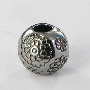 PANDORA Pandora Clip Bead 791009br Midnight Bloom Sterling Silver Retired