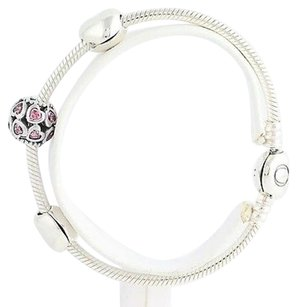 PANDORA Pandora Usb793019 From The Heart Ltd Gift Set Charm Bracelet Sterling Silver