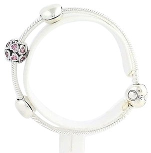 PANDORA Pandora From The Heart Ltd Charm Bracelet Gift Set Usb793019 Sterling Silver