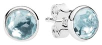 PANDORA Pandora March birthstone droplets earrings in original gift box