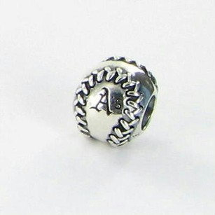 PANDORA Pandora Usb790969-g020 Bead Charm Mlb Oakland Athletics Baseball 925