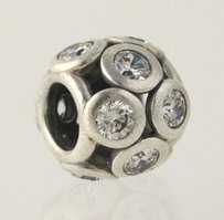 PANDORA Pandora Whimsical Lights Clear Cz Charm - Sterling Silver Womens 791153cz