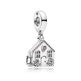 PANDORA Perfect Home Dangle Charm, Pale Pink Enamel