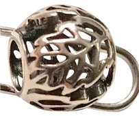 PANDORA Retired!!! Autumn Bliss Open Work Leaves Sterling Silver Charm By Pandora